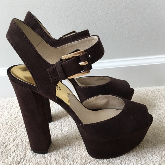 9441ba3284d Michael Kors London Open Toe Platforms 7